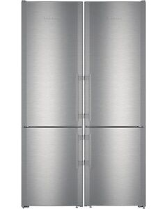 "NEW LIEBHERR 48"" SIDE-BY-SIDE REFRIGERATOR STAINLESS STEEL"
