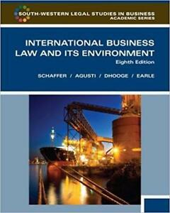 International Business Law and Its Environment 8th Edition