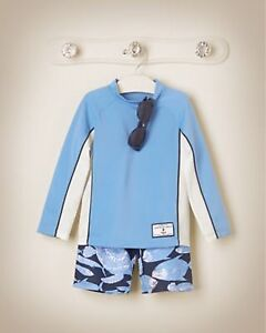 Size 7 janie and jack long sleeve rash guard swim top
