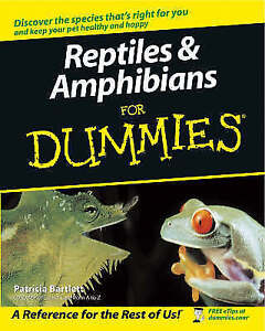 NEW BOOK Reptiles and Amphibians for Dummies - Patricia Bartlett (Paperback)