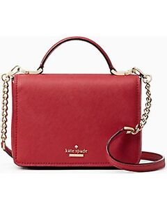 kate spade cameron street hope leather crossbody bag in red