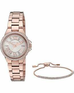 Michael Kors Petite Camille Rose Gold-Tone Watch with Bracelet