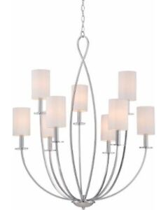 Eurofase Castana Collection 9-Light Chrome Chandelier