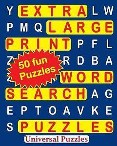 Extra Large Print Word Search Puzzles by Universal Puzzles 9781530751280