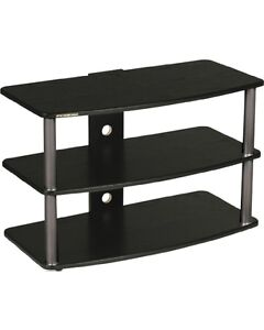 notax sale-TV stand black with 3 BLACK shelfs new in box $59.99