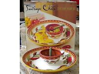 SANTIAGO CHILI 3PC CHIP 'N' DIP SET