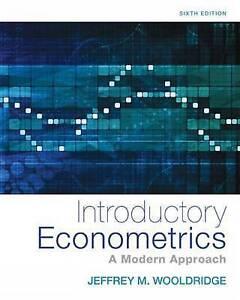 Introductory Econometrics 6e by Jeffrey Wooldridge 6th
