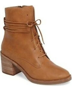 UGG tan leather lace up boots