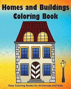 Homes and Buildings Coloring Book by Verba, Joan Marie -Paperback