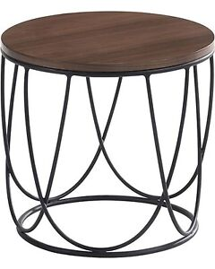 Modern Walnut End Table *NEW in Box* 2 available