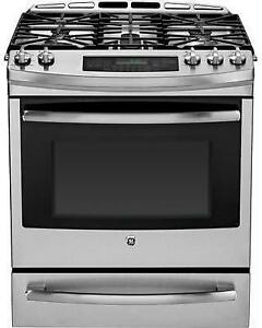 GE PC2S920SEFSS Dual Fuel Freestanding Convection Range, 30 in, 5.4 cu.ft. TrueTemp