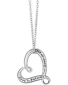 Two Hearts In One Necklace Set & Lovely Sparkle 3-Pair Earring