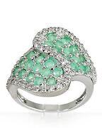 Smaragd Ring Silber