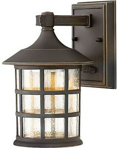 Set of 2 Hinkley Craftsman Style Outdoor Sconce Lights