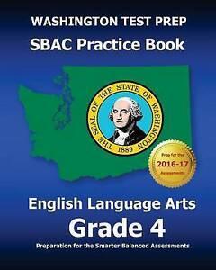 Washington Test Prep Sbac Practice Book English Language Arts Gra by Test Master