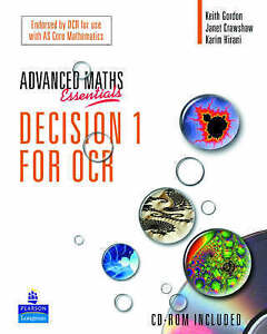 A Level Maths Essentials Decision 1 for OCR Book by Janet Dangerfield...