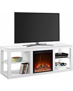 Ameriwood Home Parsons Electric Fireplace TV Stand