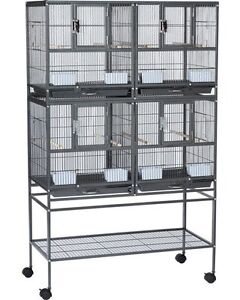 2x Hampton Deluxe Divided Bird Cages