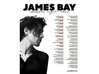 2 X James Bay tickets for 1st June at O2 Academy Sheffield