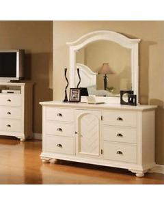 Off white dresser with mirror