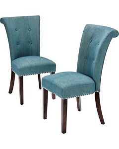 Madison Park Colfax Wood Dining Chairs, Set of 2, Blue