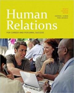 Human Relations for Career and Personal Success 4rt Canadian Edition