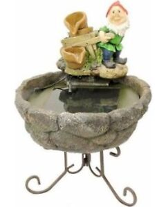 Solar Pump Water Fountain - Gnome (with stand)