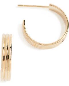 Cloverpost gold hoop earrings (Shopbop)