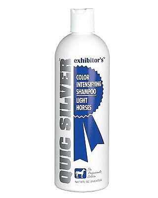 Quic Silver Intensifying Whitening Shampoo For Horses Color Safe 16oz
