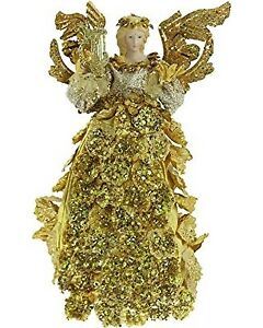 NEW Renaissance 2000 72716 16 Inch Cone Angel Figure Gold