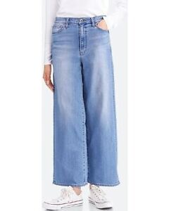 new with tags women's high rise wide leg jeans, size 27