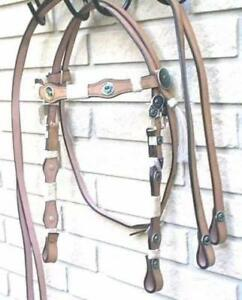Western Bridle Headstalls Breastplates Halters Split Reins Dark Light Tan Black Leather Horse Tack SALE $17