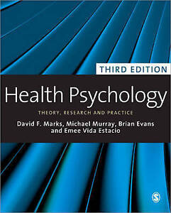 NEW Health Psychology: Theory, Research and Practice by David F. Marks