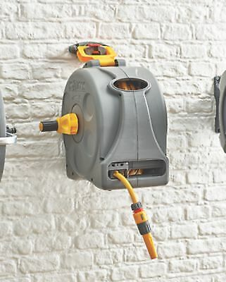 Hozelock 2-in-1 Compact Reel with Hose 25m Floor or Wall Mounting