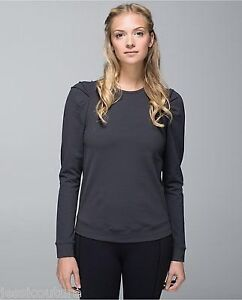 Size 8 Lululemon Lab city Pullover long sleeve - soot grey