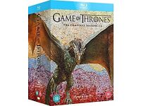 Game of thrones Seasons 1-6 Blu ray, brand new & sealed U.K. Edition Dolby atmos