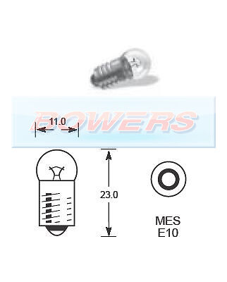 LUCAS LLB987 BULBS used in SMITHS GAUGES 12v 2.2w MES E10 SCREW BASE PAIR 2 x