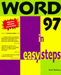"""VERY GOOD"" Word V97 In Easy Steps (In Easy Steps Series), Basham, Scott, Book"