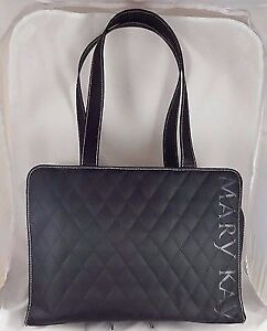 New Mary Kay Black Quilted Consultant Organizer / Travel Tote Ha