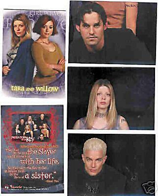 Cards -  Buffy - Season Five - 5x versch. Sonderc.- TOP