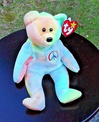 ty beanie babie Peace bear with tag  2ea1a999768