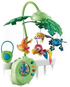 Fisher price rainbow forest peek a boo leaves musical mobile