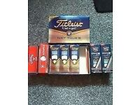 brand new titleist nxt tour golf balls polyurethane white in box 1dozen