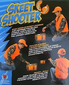 RAPID INDOOR/OUTDOOR TARGET GAME! Launches 3 Skeets individually