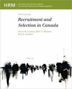 Recruitment and Selection in Canada  5th Edition