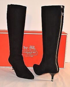 AUTHENTIC Coach - Fayth black suede boots - NEW PRICE