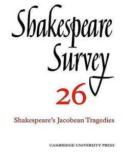 Shakespeare Survey: Volume 26, , Very Good condition, Book