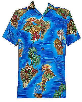 Hawaiian Shirt Mens Scenic Flower Print Beach Aloha Party Holiday Camp (Hawaiian Shirt Party)