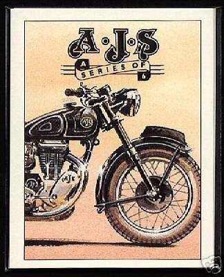 AJS - Original Collectors Cards - Model 8, 7R, 16C, 16MS, 18CS & 20 illustrated