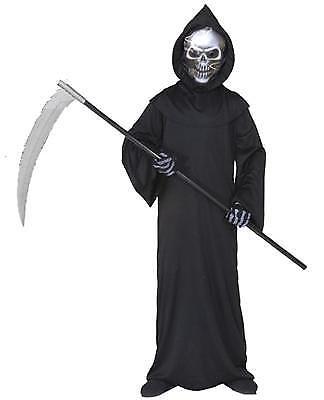 Kinder KOSTÜM GRIM REAPER Tod Geist mit holographisch - Reaper Kostüme Maske